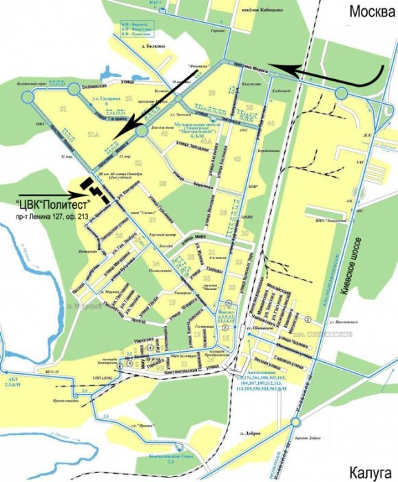 Карта пути к Политест